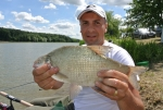La pescuit pe barajul de la Cetariu