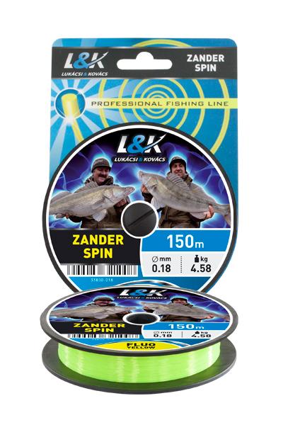 Fir L&K Zander Spin Fluo Galben 150m